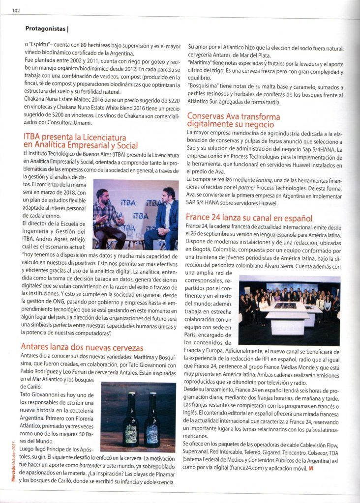 Process Technologies esta presente en la revista mercado