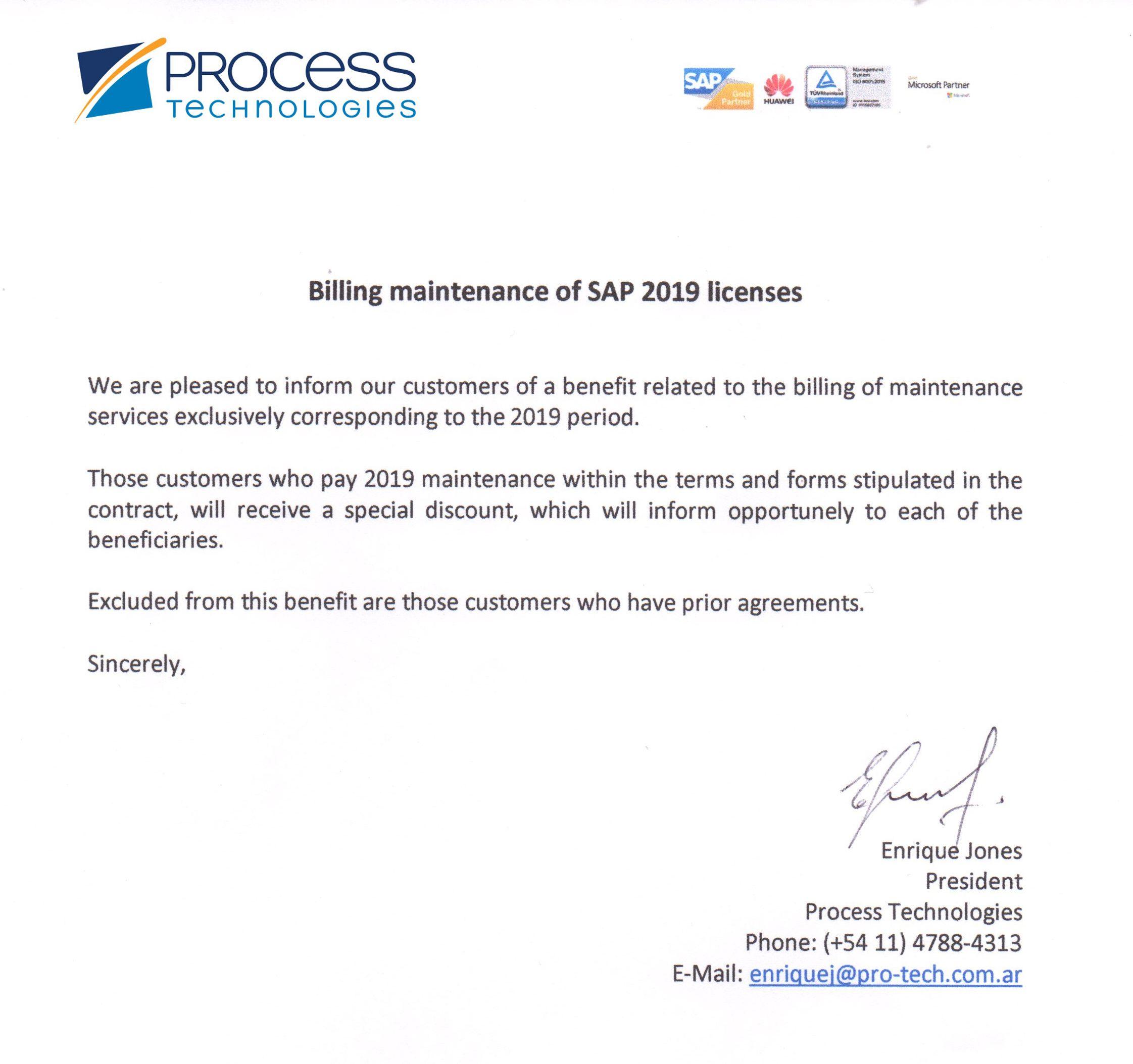 SAP Maintenance